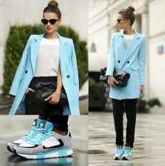 In Love with the baby blue coat!