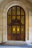 Ornate doorway at Musee du Louvre, Paris France