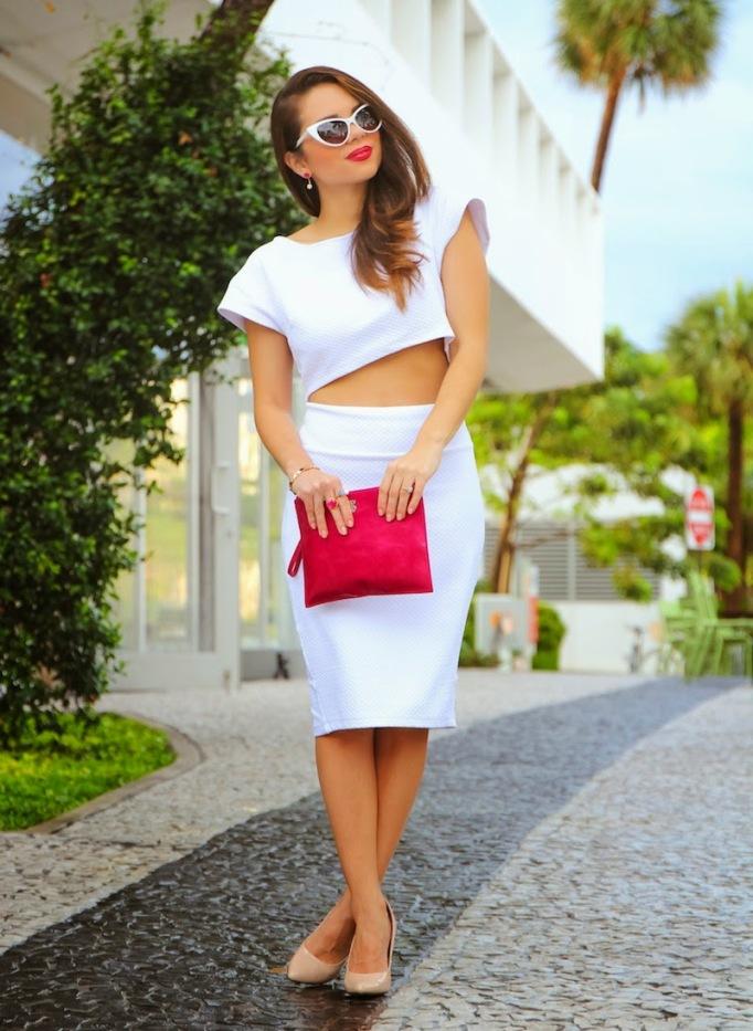 Nany's Klozet White Pencil Skirt